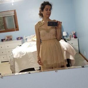 Peach Slip Mini Dress - Rodarte